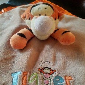 Disney Baby Tigger Security Blanket Rattle lovey